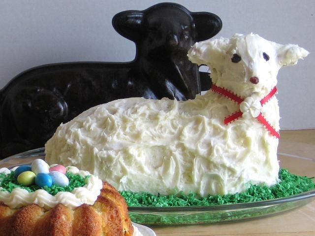 How to Make a Traditional Easter Lamb Cake: This 1950s cast-iron lamb mold is still used in my family to make lamb pound cake for Easter.