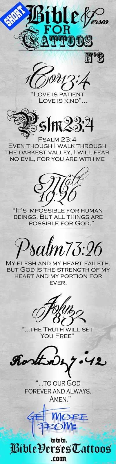 The Team of http://bibleversestattoos.com/ Has Designed These Beautiful Unique *Short* Bible Verses for Tattoos so You Can Print Them and Bring Them to Your Tattoo Artist... Just Go & Grab Them NOW!... :) #bibleversestattoos #bibleversestattoos #versestattoos #scripturetattoo #scripturetattoos #tattoo #tattoos #shortversestattoos #smalltattoo #tattooforgirl #foottattoodesigns #girlfoottattoos #tattoosonthefootforgirls #smallfoottattoo #tattoosonfootforgirls #foottattoosforgirls