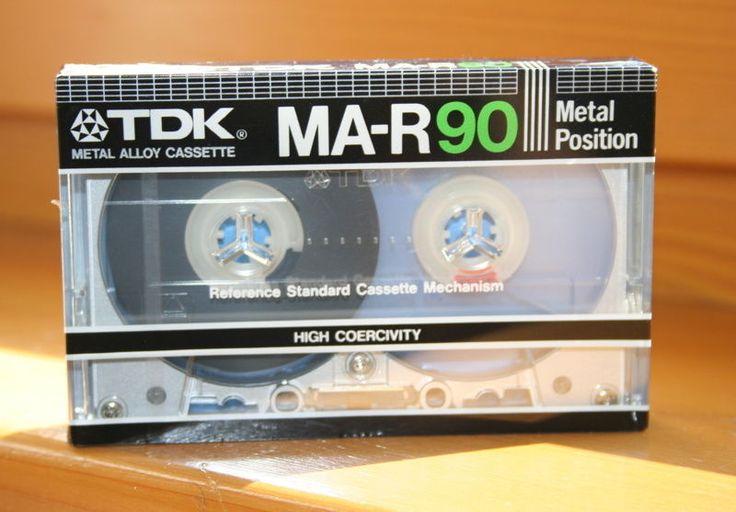 Kassette Kassettenband Cassette TDK MA-R 90 Metal Alloy OVP / Boxed as new