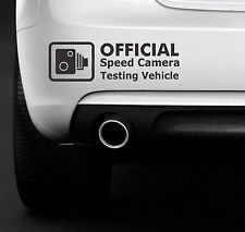 This hilarious Speed Camera Testing Vehicle Funny Car Bumper Window JDM Vinyl Decal Sticker can be bought for $2.09 by tapping the photo.
