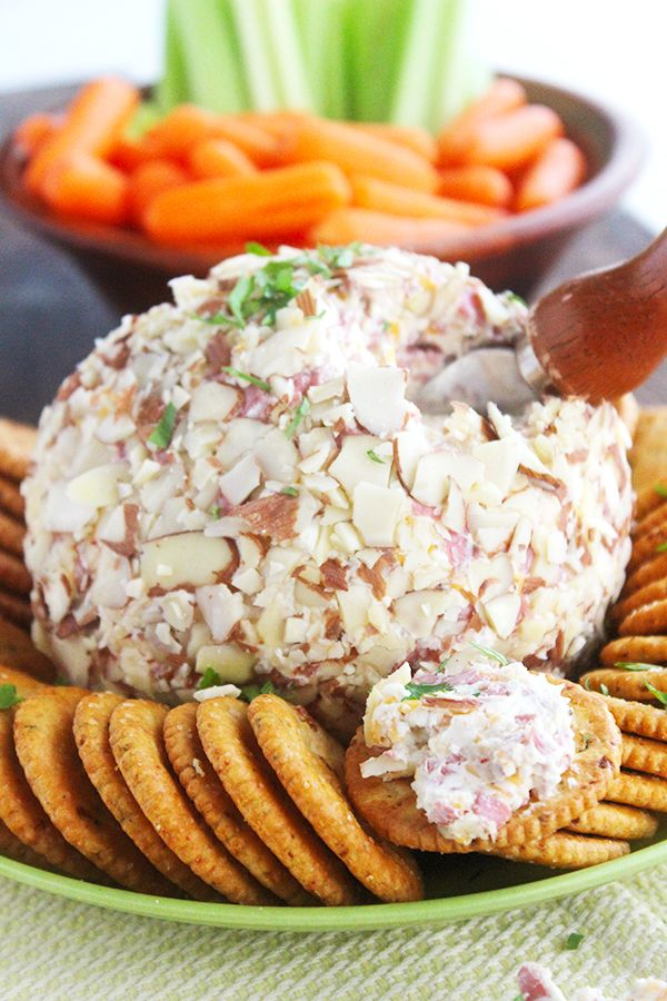 The Best Cheese Ball Recipe!! So simple and perfect for holiday parties!!