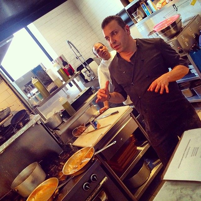 Working hard in the kitchen prepping for tonight's Chef Menu Tasting #Toronto #QueenWest #TasteToronto