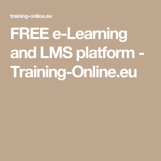 FREE e-Learning and LMS platform - Training-Online.eu