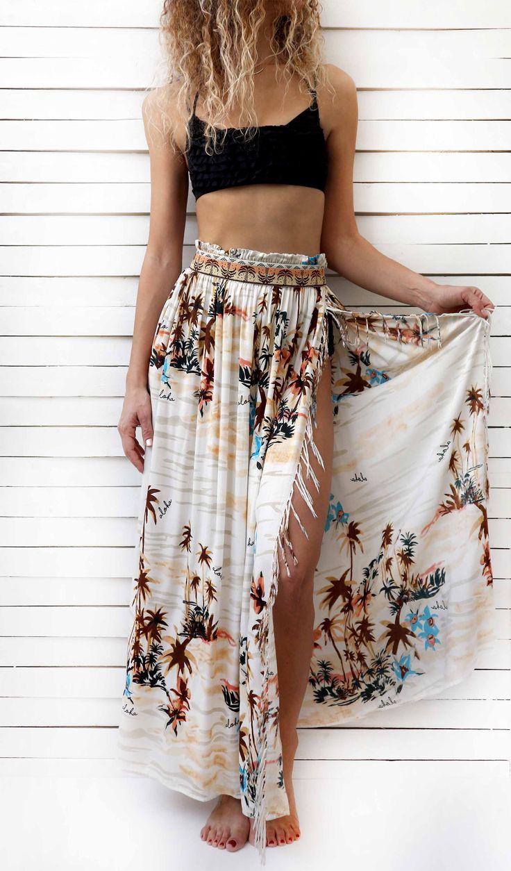 ALOHA maxi skirt item code: #0422  color: multi ** http://www.cleogatzeli.com/shop/skirts/aloha-maxi-skirt/