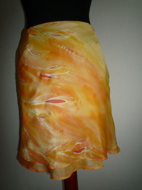 summer skirt (silk, hand painted)