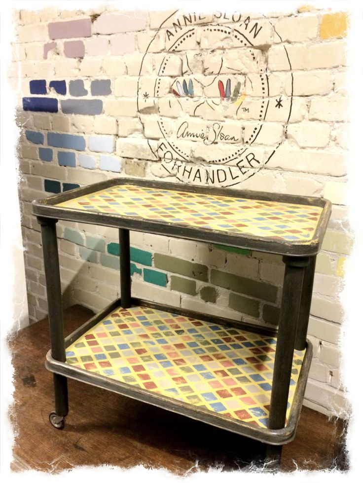 Rullebord malet med Chalk Paint #AnnieSloanHome