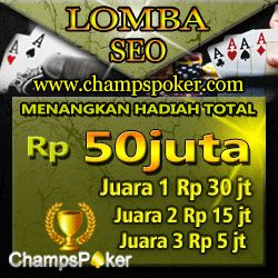 http://wawangado.blogspot.com/2014/10/agen-champs.html CHAMPSPOKER AGEN POKER ONLINE DAN DOMINO ONLINE INDONESIA TERPERCAYA