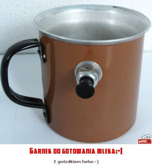 Garnek do gotowania mleka:-)