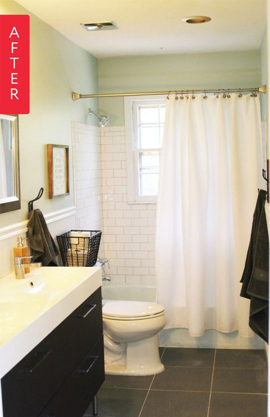 The 25 best inexpensive bathroom remodel ideas on pinterest tiles for less diy bathroom Small modern bathroom on a budget