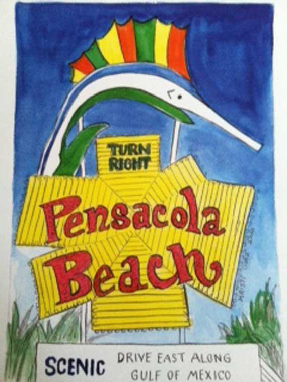 Beachy arte Florida di stampa proprio all'arte di Pensacola Beach