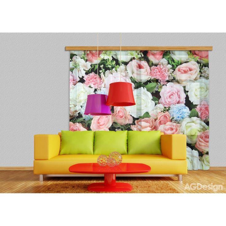 Rózsás függöny #függöny #rózsa #virág #lakberendezés