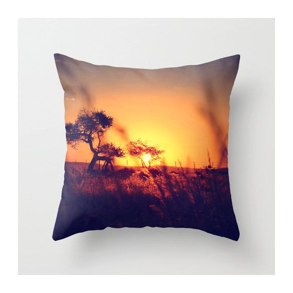 African Sunset Throw Pillow Cover Home Office Decor By
