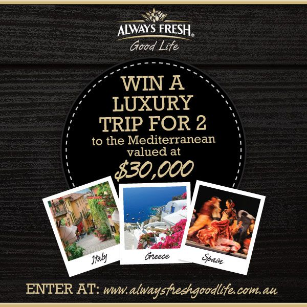 Win a trip to the Mediterranean!