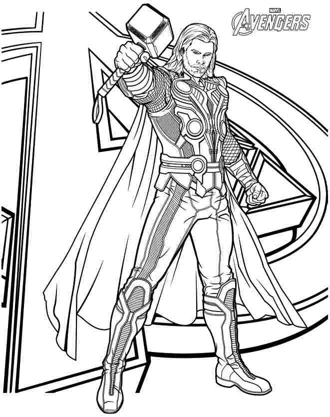 Thor is a american superhero film appearing on marvel comics thor marvel coloring pages allows little fans to travel to fantasy lands and defeat the evil