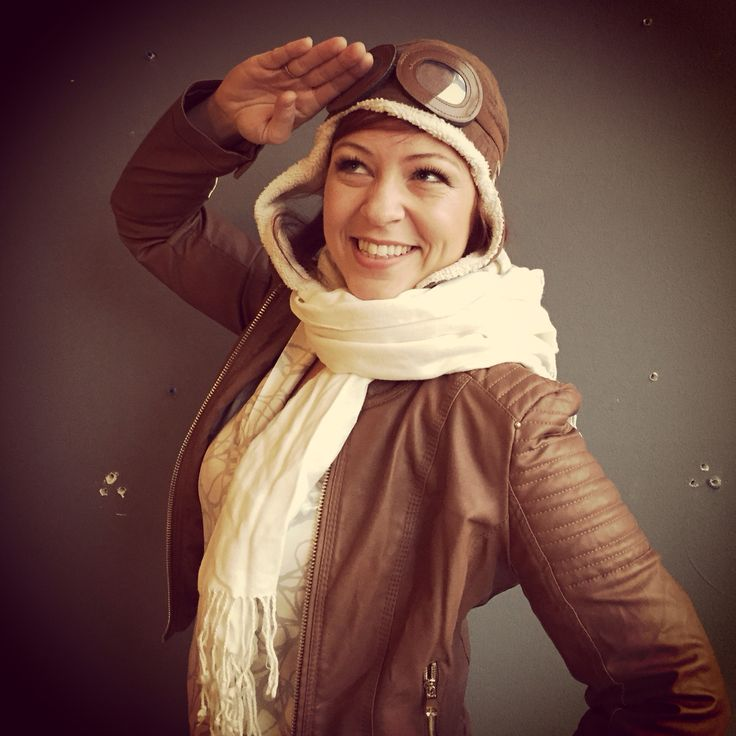 Woman Halloween Costume Idea: Amelia Earhart // Amelia Earhart costume  Easy Halloween costume for a woman using clothes you likely already own: Khaki (or light colored) pants  White shirt Leather bomber jacket Boots White scarf * mom tip: use your son's play pilot cap to top off the look