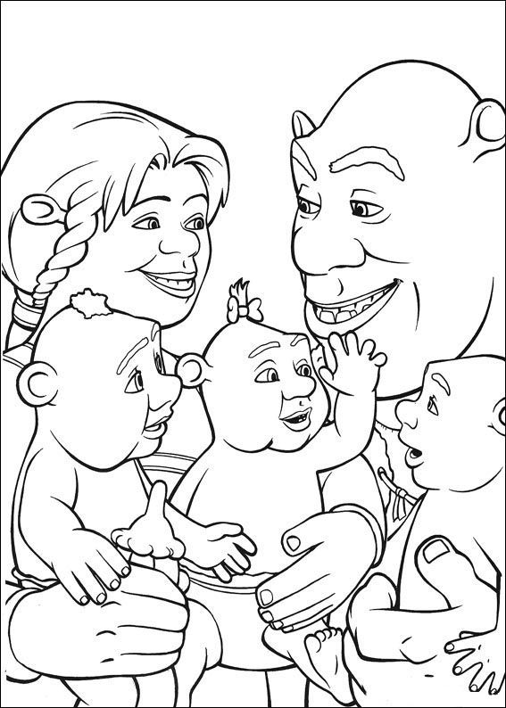 178 best shrek images on Pinterest | Coloring books, Coloring pages ...