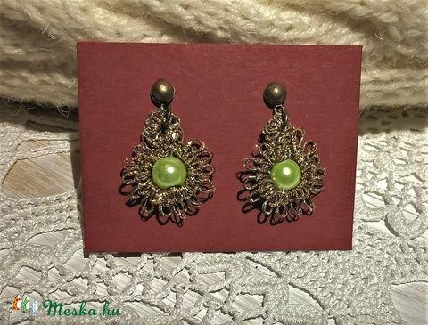 Vintage napsugaras fülbevaló (zöld) (csipkeorszag) - Meska.hu