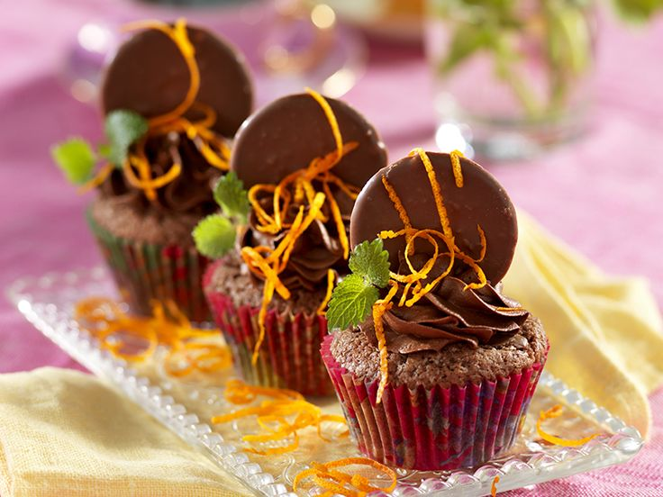 Apelsin- och chokladmuffins