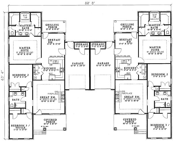 25 Best Duplex Plans Images On Pinterest Duplex Plans