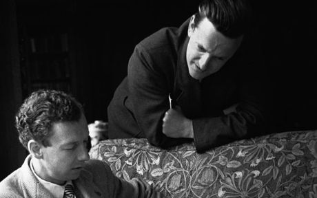 Benjamin Britten and Peter Pears during the rehearsals of Rape Of Lucretia