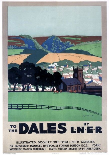 LNER.Yorkshire Dales railway poster pinned by www.realyorkshiretours.co.uk//.,MAR16