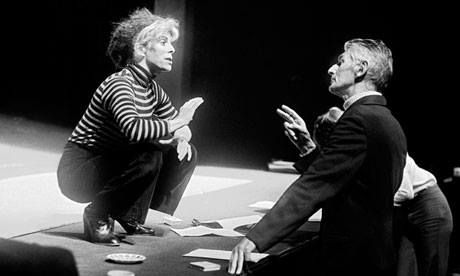 Samuel Beckett with Billie Whitelaw in the Royal Court Theatre in 1979