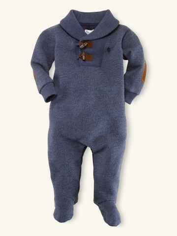 Fleece Shawl-Collar Coverall - Layette One-Pieces - RalphLauren.com