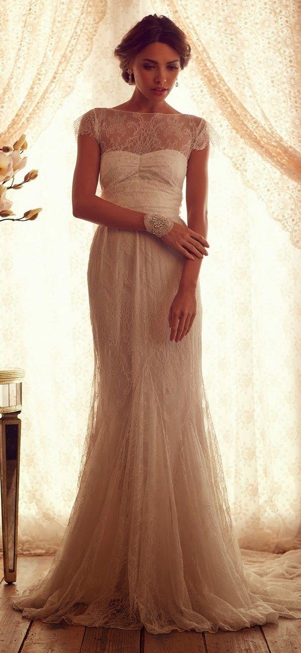 Molto Die besten 25+ Shabby chic wedding dresses Ideen auf Pinterest  MD35
