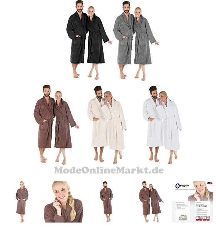 #Flauschiger #Bademantel #f #r #Damen # #038 #Herren # #ca #480g #m # #Baumwolle #Frottee #Morgenmantel #mit #Schalkragen # #CelinaTex #Oregon #0001247 # #S #braun #6898660