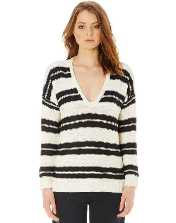 Stripe Drop Shoulder Jumper
