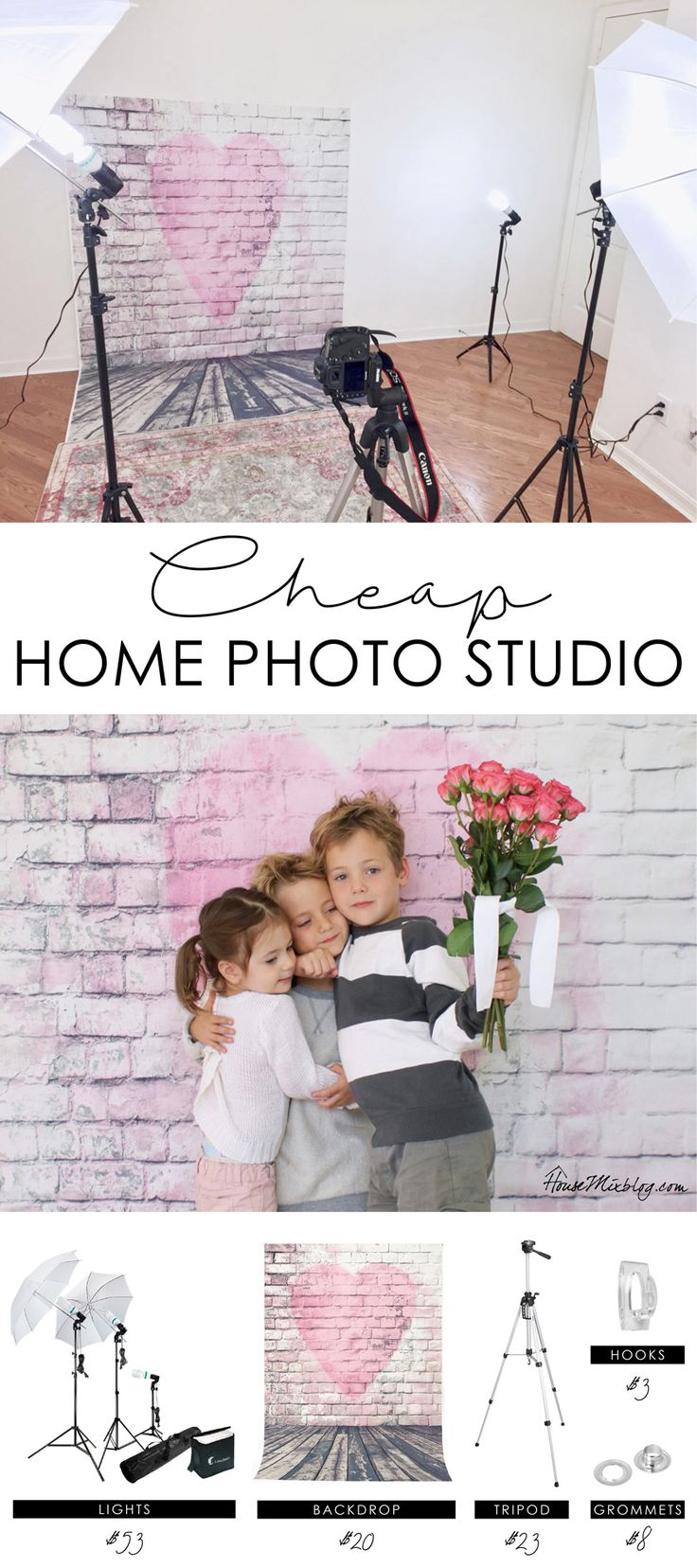 How to create a cheap home photo studio for 100 dollars