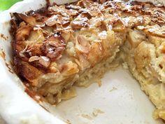 tartas sin base tartas de frutas tartas caseras tarta sin gluten tarta más fácil del mundo tarta de manzana recetas postres delikatissen pudding de manzana