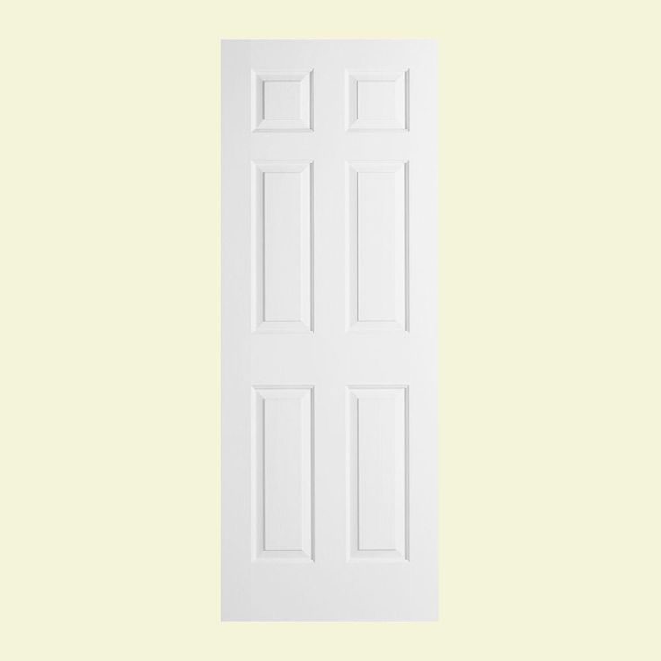 Jeld Wen 28 In X 78 In Woodgrain 6 Panel Solid Core Primed Molded Interior Door Bathroom