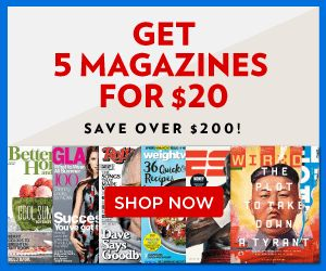 Terrific Discount Mags Bundle Sale this weekend! Get 5 magazines for only $20! Great gift ideas or even go together with a friend to grab your fave mags!  Click the link below to get all of the details ► http://www.thecouponingcouple.com/discount-mags-bundle-sale-5-magazines-for-20/  #Coupons #Couponing #CouponCommunity  Visit us at http://www.thecouponingcouple.com for more great posts!