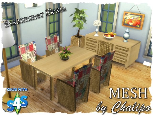 S4 Mesh Esszimmer Elexia   Sims4   MESHES And Convertions By Chalipo    All4Sims
