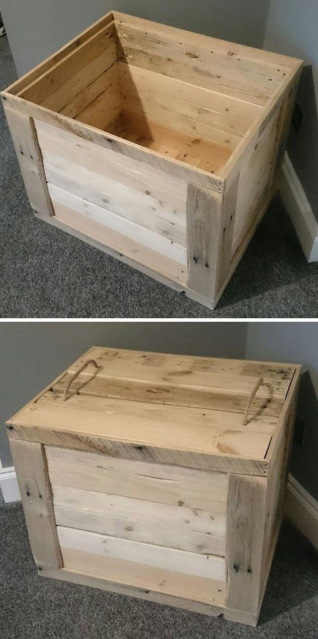 Upcycled Unique Pallet Storage Box Ideas Diy Storage Boxes Pallet Storage Diy Storage