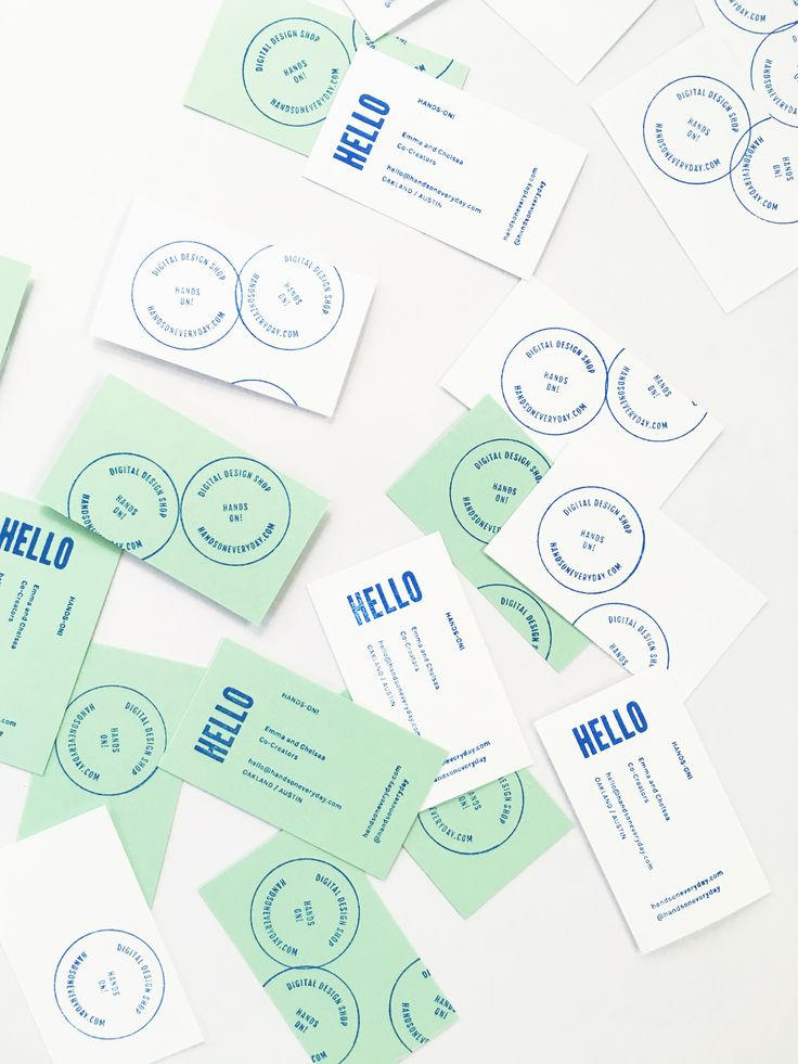 Make your own business cards! ( two stamp templates + precut cards )