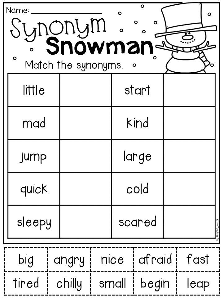 Winter Math And Literacy Worksheet Pack First Grade First Grade Worksheets Synonym Worksheet Literacy Worksheets Synonym worksheets 1st grade