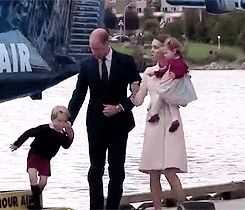 William, Kate, George & Charlotte arrive and depart from Victoria Harbor by sea plane on the final day of their royal tour of Canada. Eight days and countless memories for them as a family!  October 1, 2016.