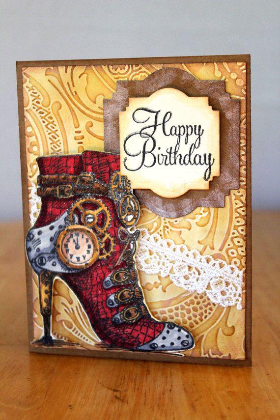 155 best Steampunk Cards images – Steampunk Birthday Card