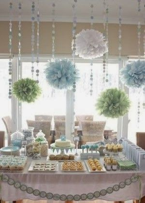 Boys, Boys, Boys: Baby Shower Ideas colors white baby green baby blue