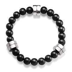 Order with me, Avon Rep Ben Keller at youravon.com/bkeller I offer free shipping on all orders over $40, plus I send out free gifts and samples personally after every order placed! Mens Stainless Steel Bolts and Beads Stretch Bracelet