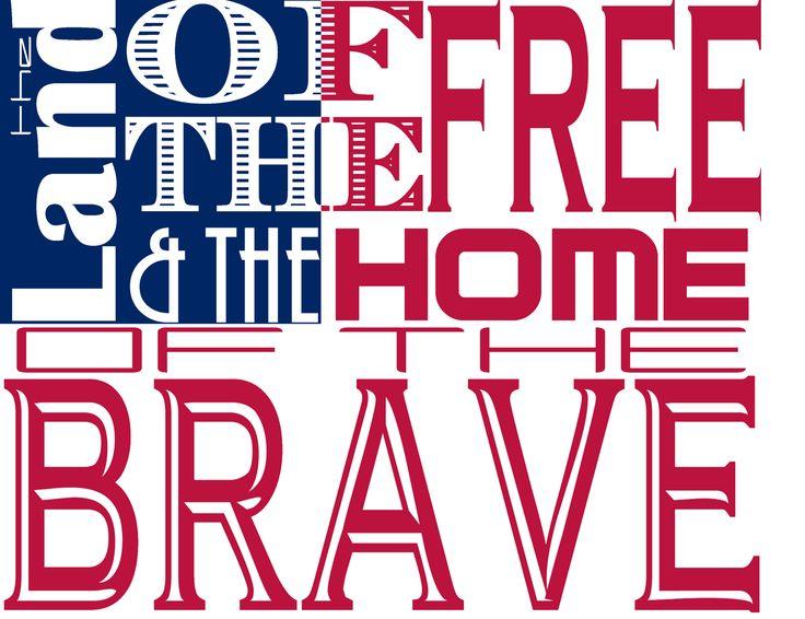 Fourth of July Patriotic Word Art (Free Printable!) | Wayward Girls' Crafts