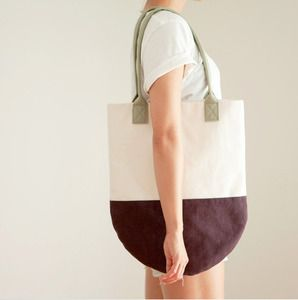 Taffy - Semi-Circle Colorblock Beach Tote