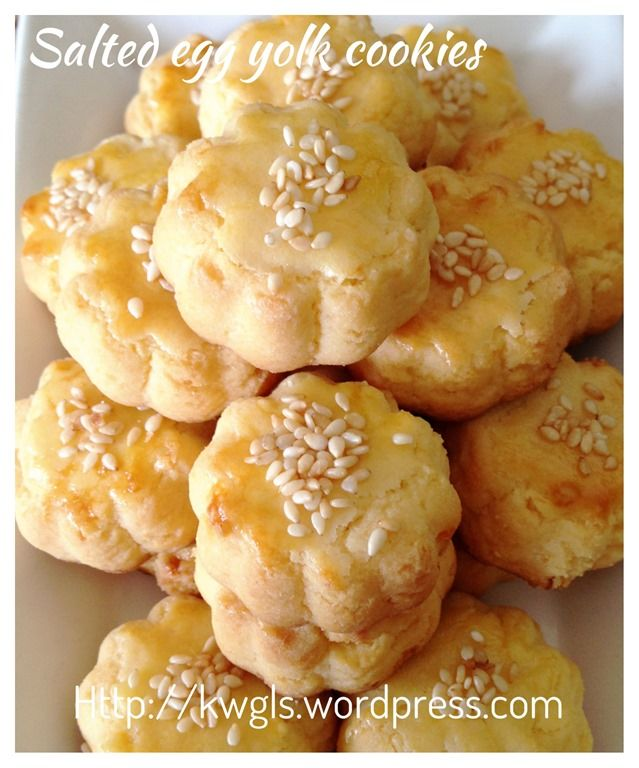 Salted egg cookies
