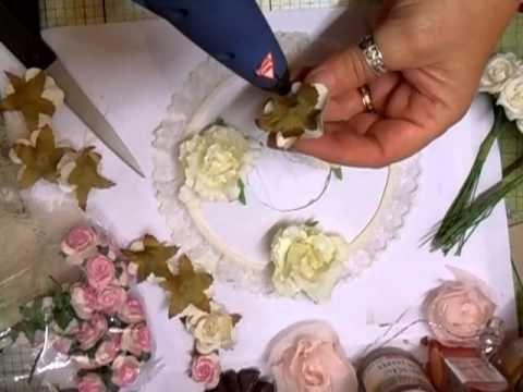 ▶ Stunning Shabby Chic Wreath Tutorial - jennings644 - YouTube
