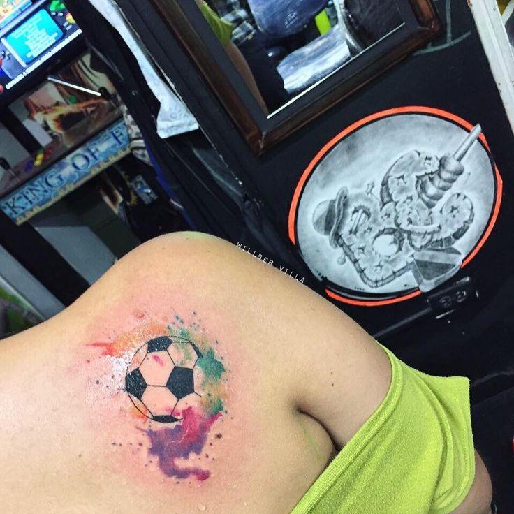 #tattoo #tatuaje #Tattooo #tatuajes #balon #ball #soccer #futbol #soccertattoo #art #colortattoo #cutetattoo #acuarelatattoo #colortattoo #cutetattoo #ink #inked #inkedgirls #womantattoo #colombiaink #tatuadorescolombianos #art #tattootime #tattooing #radiantcolors #radiantcolorsink #coryrogers #workhorseirons #fkirons #spektraedge #radiantcolorsartist #mundoskink