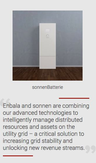 Enbala Power Networks and sonnen Partner to Increase the Impact of Distributed Energy Resources