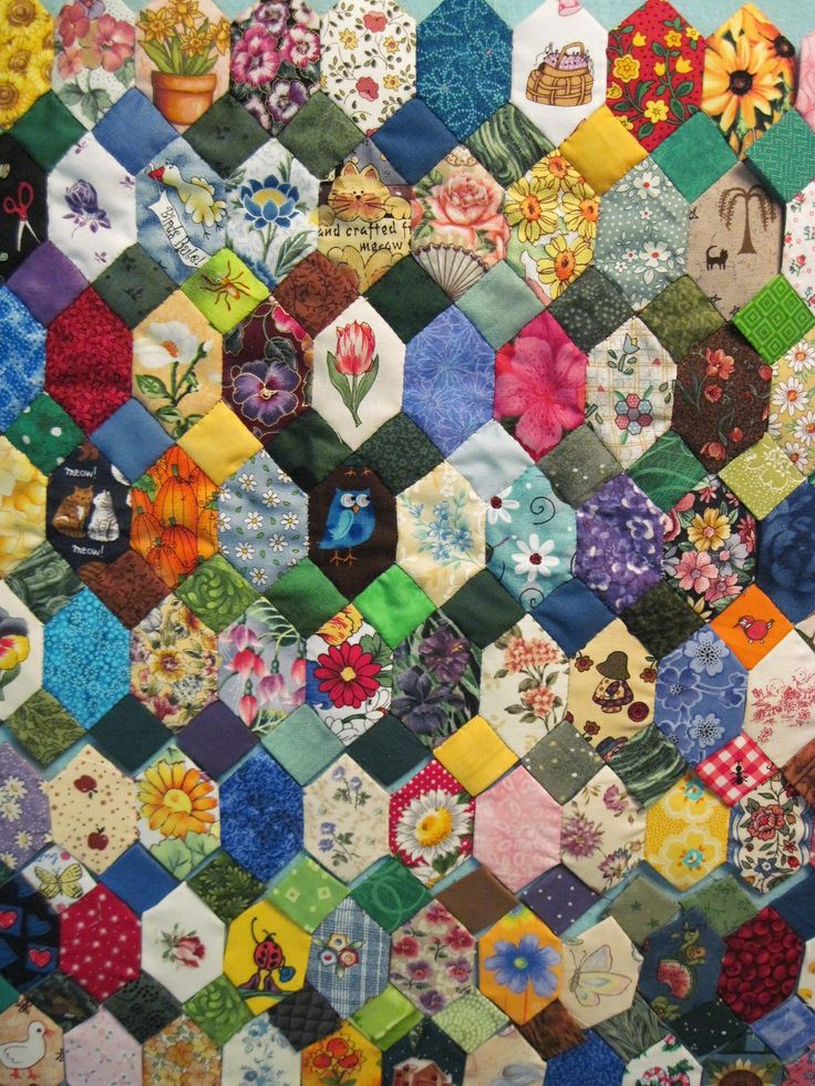 252 best Fiber Crafts: Rose Star and Hexagon quilts images on ... : cutting quilt squares - Adamdwight.com