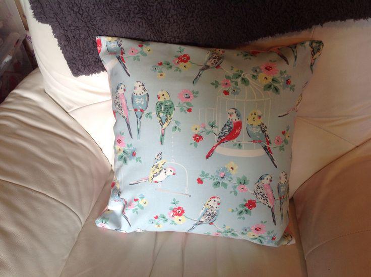 Cath kidston budgies cushion
